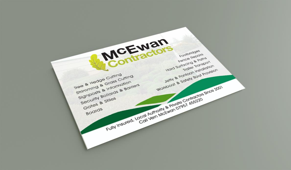 McEwan Contractors A6 Flyer