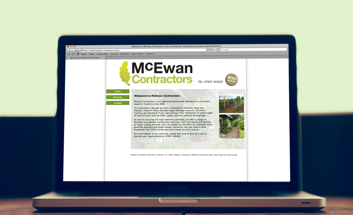 McEwan Contractors Website