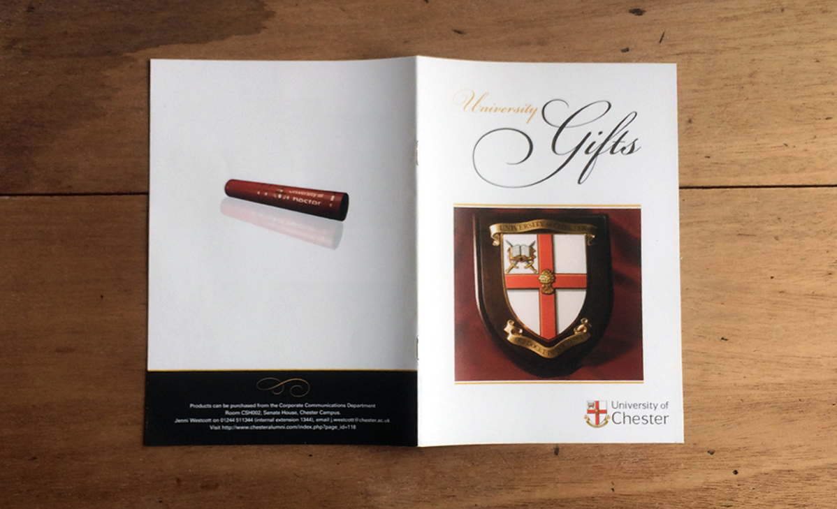 Giftware Catalogue - University Chester