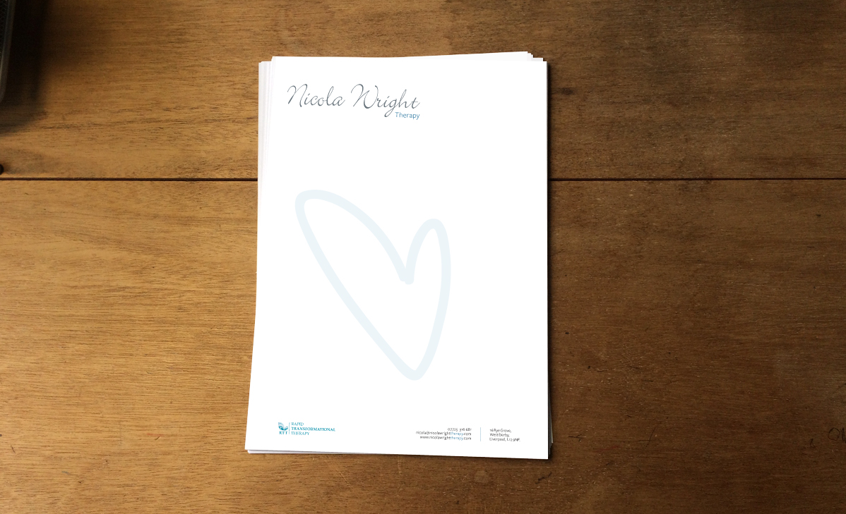 Nicola Wright Therapy Letterhead